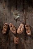 酒和面包 库存照片