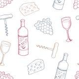 酒图表颜色无缝的样式背景剪影例证传染媒介 免版税库存图片