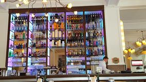 酒在餐馆 图库摄影