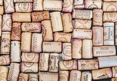 酒塞住著名酒生产商Massandra,大别墅,因克尔曼, e 免版税图库摄影