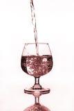 酒杯用水 库存图片