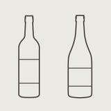 酒瓶标志集合 瓶象 库存照片