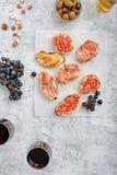 酒的另外意大利开胃菜 库存图片