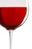 酒的接近的玻璃红色 库存图片