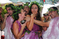 酒神布尔戈斯宴餐西班牙 库存图片