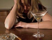 酒精中毒 免版税库存图片