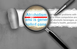 酒精中毒 免版税库存照片