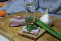 酒精和开胃菜用俄语 图库摄影