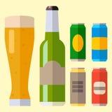 酒精啤酒强麦酒玻璃传染媒介例证茶点啤酒厂和党饮料杯子冷淡的工艺喝 库存例证