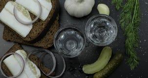 酒精在小玻璃的饮料伏特加酒 E r 免版税库存照片