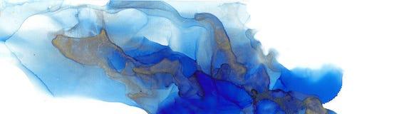 酒精墨水多色纹理 流动墨水抽象背景 设计的艺术 库存例证