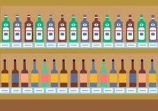 酒精架子 向量背景 库存例证