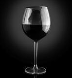 酒精棒玻璃红葡萄酒 库存照片
