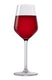 酒精棒玻璃红葡萄酒 免版税库存图片