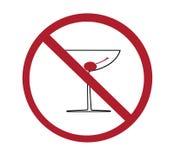 酒精没有符号 免版税库存图片