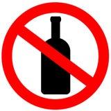酒精没有符号 免版税库存照片
