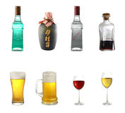 酒精混合 免版税库存照片