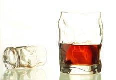 酒精玻璃 免版税库存照片