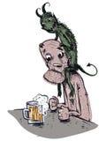 酒精精神病 免版税库存图片