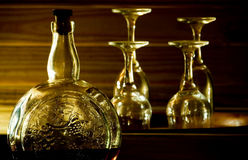 酒精被构造的玻璃瓶 免版税库存照片