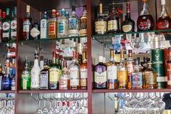 酒精酒吧 俄罗斯莫斯科,船蝴蝶 18/07/2017 23 库存照片