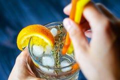 酒精饮料用伏特加酒和苏打 库存照片