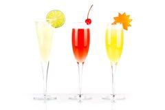 酒精鸡尾酒嘶嘶响千年桔子佩尔诺利&# 免版税库存图片