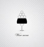 酒菜单卡片设计背景 免版税图库摄影
