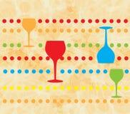 酒菜单卡片设计背景 免版税库存照片