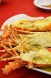 酒蒸的大螯虾 免版税图库摄影