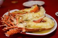 酒蒸的大螯虾 免版税库存图片