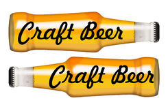 酒装瓶标志工艺啤酒 免版税库存照片