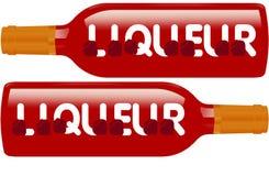 酒装瓶标志 免版税库存图片