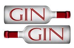 酒装瓶标志 库存例证