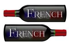 酒瓶标志法国葡萄酒 库存图片