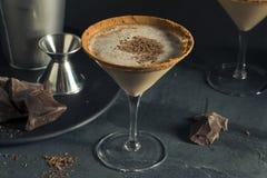 酒醉的巧克力点心马蒂尼鸡尾酒 免版税图库摄影