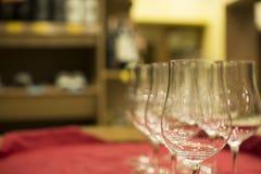 酒铺A杯郁金香,酒铺 免版税库存图片
