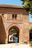 酒门(Puerta del Vino),格拉纳达,西班牙 库存图片