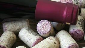 酒黄柏特写镜头  从瓶的黄柏红葡萄酒 股票视频