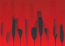 酒类一览表设计传染媒介 免版税库存图片