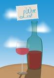 酒类一览表-仿照印象主义样式的一个例证 免版税图库摄影