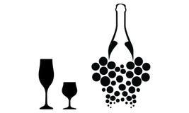 酒类一览表 库存图片