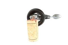 酒黄柏和拔塞螺旋 免版税库存照片