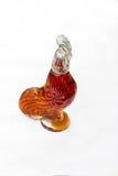 酒玻璃瓶鸡  免版税图库摄影