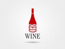 酒bottel的时髦的品牌标志 库存图片