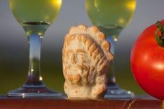 酒Dionysus的上帝的图 库存照片