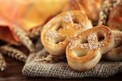 酥皮点心和面包店产品 免版税库存照片