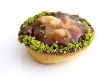 酥皮点心用开心果和巧克力 免版税图库摄影