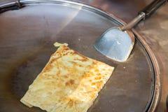 酥脆平的面包或roti 免版税图库摄影