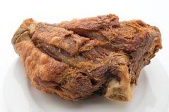 酥脆德国猪肉指关节 免版税库存图片